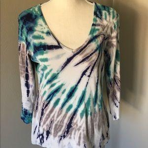 Tryst by Matthew Long Sleeve Tie Dye Top